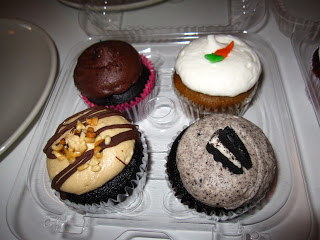 A package of 4 cupcakes from Sticky Fingers Bakery