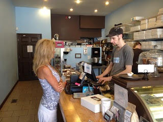 Kelly Childs ordering from Sweet Freedom Bakery