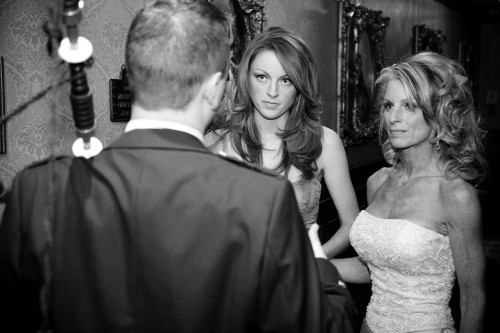Kelly Childs wedding to Ken Childs shown with Erinn Weatherbie
