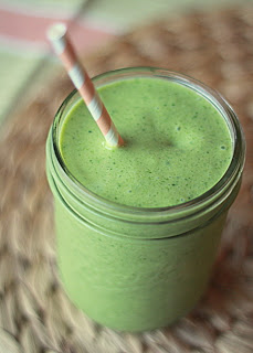 Kelly Childs' shamrock green smoothie