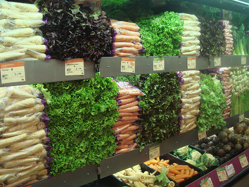 side shot of whole foods market produce section