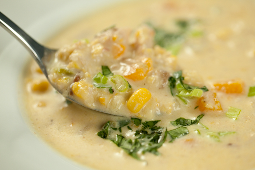 roasted corn soup by Kelly Childs