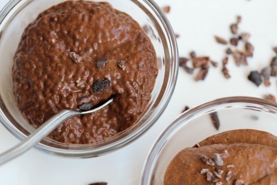 Another closeup of Kelly Childs' chocolate chia pudding
