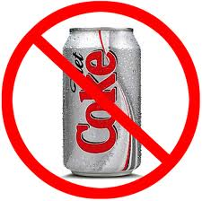 Diet Coke with a red line through it