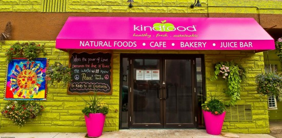Front show of Kindfood restaurant in Burlington, Ontario