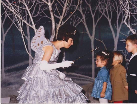 Kelly Childs making a wish at 2 years of age