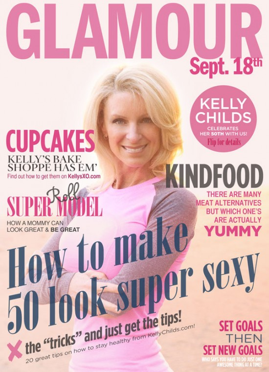 Kelly Childs on the cover of GLAMOUR magazine