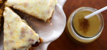 Kelly Childs' pumpkin pie scones and smoothie