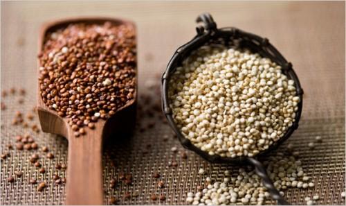 red and white quinoa
