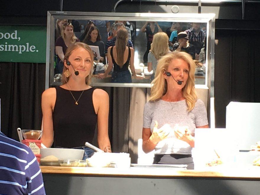 Kelly Childs and Erinn Weatherbie baking demo Toronto veg association