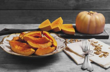 baked pumpkin pieces