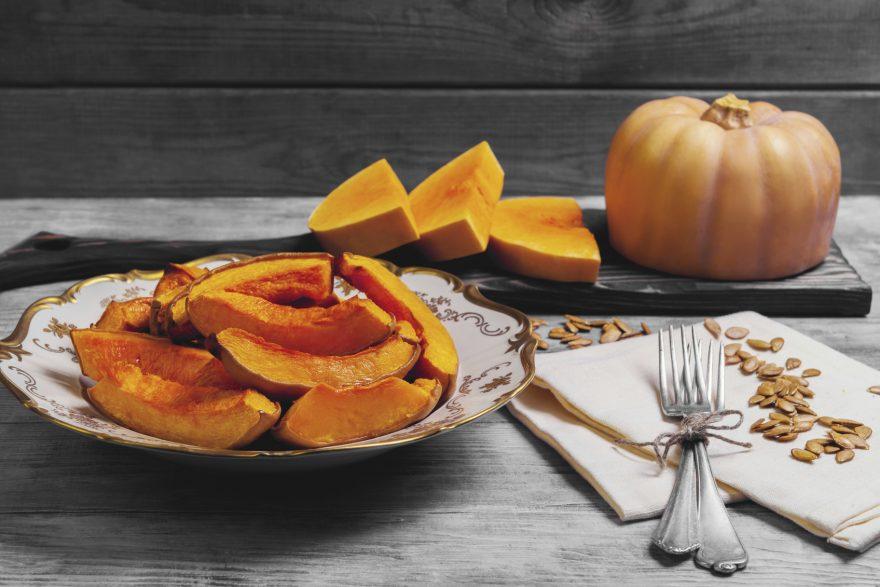 baked pumpkin pieces