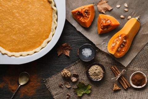 baked pumpkin and squash pieces
