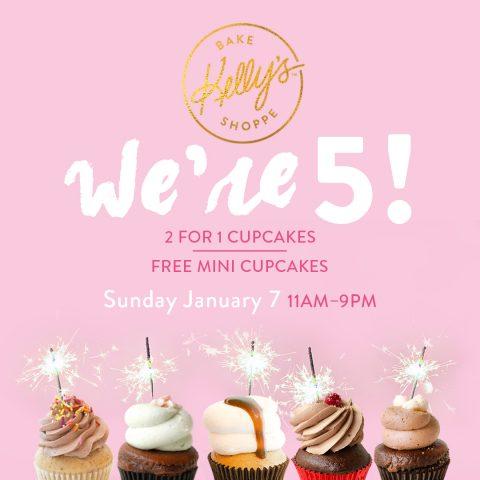 Kelly's Bake Shoppe 5th anniversary